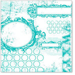Hambly Studios - Screen Prints - 12 x 12 Overlay Transparency - All Mixed Up - Teal Blue, CLEARANCE