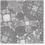 Hambly Studios - Screen Prints - 12 x 12 Overlay Transparency - Doily Decor - Grey, CLEARANCE