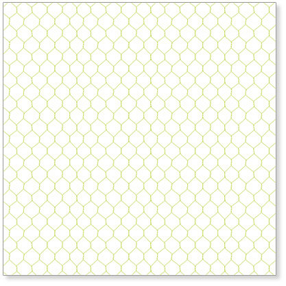 Hambly Studios - Screen Prints - 12 x 12 Overlay Transparency - Chicken Coop - Lime Green