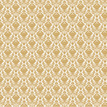 Hambly Studios - Screen Prints - 12 x 12 Overlay Transparency - Mini Brocade - Metallic Gold