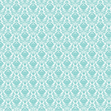 Hambly Studios - Screen Prints - 12 x 12 Overlay Transparency - Mini Brocade - Antique Teal Blue