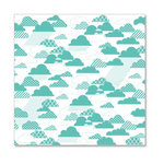 Hambly Studios - Screen Prints - 12 x 12 Overlay Transparency - Rain Clouds - Antique Teal Blue