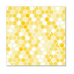 Hambly Studios - Screen Prints - 12 x 12 Overlay Transparency - Honeycomb - Golden Yellow
