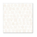 Hambly Studios - Screen Prints - 12 x 12 Overlay Transparency - Printer's Type - Antique White