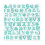 Hambly Studios - Screen Prints - 12 x 12 Overlay Transparency - Printer's Type - Antique Teal Blue