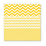 Hambly Studios - Screen Prints - 12 x 12 Overlay Transparency - Herringbone - Chevron Mash Up - Yellow