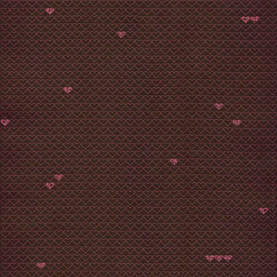 Hambly Studios - Screen Prints - 12 x 12 Paper - Little Hearts - Pink on Bronze