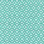 Hambly Studios - Screen Prints - 12 x 12 Paper - Lattice - White on Lagoon Blue