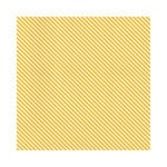 Hambly Studios - Screen Prints - 12 x 12 Paper - Diagonal Alley - Golden Yellow on White Ice