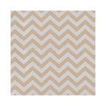 Hambly Studios - Screen Prints - 12 x 12 Paper - Chevron - Metallic Silver on Kraft