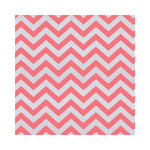 Hambly Studios - Screen Prints - 12 x 12 Paper - Chevron - Coral on Silver