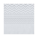Hambly Studios - Screen Prints - 12 x 12 Paper - Chevron Mash Up - White on Silver