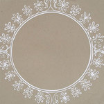 Hambly Studios - Paper - Screen Prints - Big Vintage Circle - White on Kraft