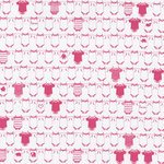 Hambly Studios - Screen Prints - 12 x 12 Paper - Onesies - Pink on White Ice, CLEARANCE