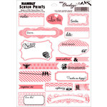 Hambly Studios - Mini Overlays - Journal Tags - Coral and Black