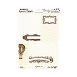 Hambly Studios - Mini Overlays - Journal Cards - Antique White and Brown