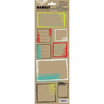 Hambly Studios - Screen Prints - Kraft Cardstock Stickers - Urban Frames, CLEARANCE