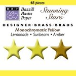 Happy Hammer Bazzill Basics Mini Brads - Stunning Stars - Yellows, CLEARANCE