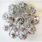 Melissa Frances - Vintage Jeweled Brooch - Fancy Filigree