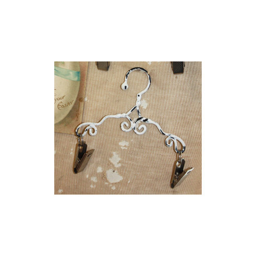 Melissa Frances - Mini Metal Hangers - Scroll - 6 Inch
