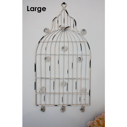Melissa Frances - Birdcage Memo Holder - Large - White