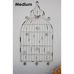 Melissa Frances - Birdcage Memo Holder - Medium - White