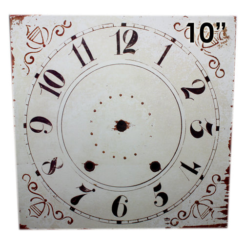 Melissa Frances - Clock Wall Hangings - Square Clock Face - 10 Inch
