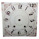 Melissa Frances - Clock Wall Hangings - Square Clock Face - 12 Inch