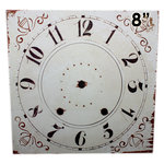 Melissa Frances - Clock Wall Hangings - Square Clock Face - 8 Inch