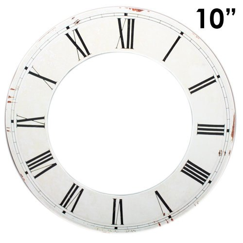 Melissa Frances - Clock Wall Hangings - Roman Numeral Clock Face - 10 Inch