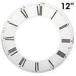 Melissa Frances - Clock Wall Hangings - Roman Numeral Clock Face - 12 Inch