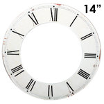 Melissa Frances - Clock Wall Hangings - Roman Numeral Clock Face - 14 Inch