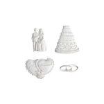 Melissa Frances - Vintage Resin Applique - I Thee Wed Set