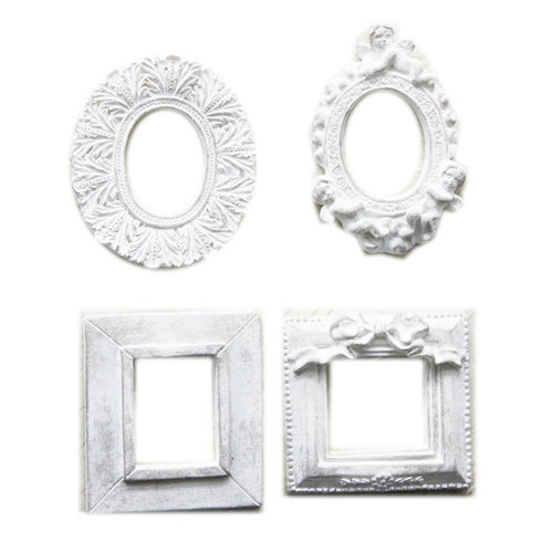 Melissa Frances - Vintage Resin Applique - Formal Frame