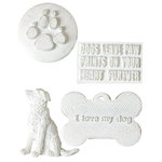 Melissa Frances - Vintage Resin Applique - Good Dog