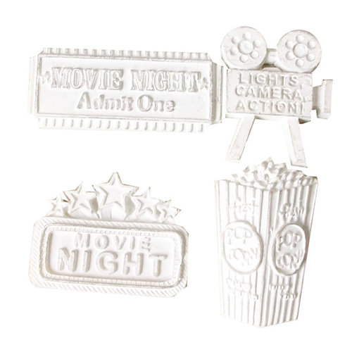 Melissa Frances - Vintage Resin Applique - Movie Night