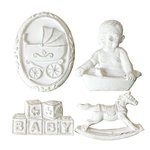 Melissa Frances - Vintage Resin Applique - Rock-a-Bye Baby