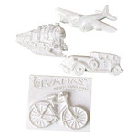 Melissa Frances - Vintage Resin Applique - Modes of Transportation