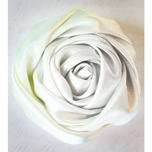 Melissa Frances - Vintage Flower - Pale Green Satin Twist Rose