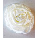 Melissa Frances - Vintage Flower - Cream Satin Twist Rose