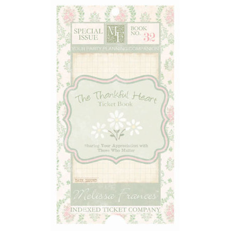Melissa Frances - Thankful Collection - Ticket Book - Thankful