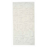 Melissa Frances - Heart and Home - Pop Out Glitter Accents - Alphabet, CLEARANCE