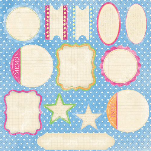 Melissa Frances - Die Cut Cardstock Pieces - Fresh Twist
