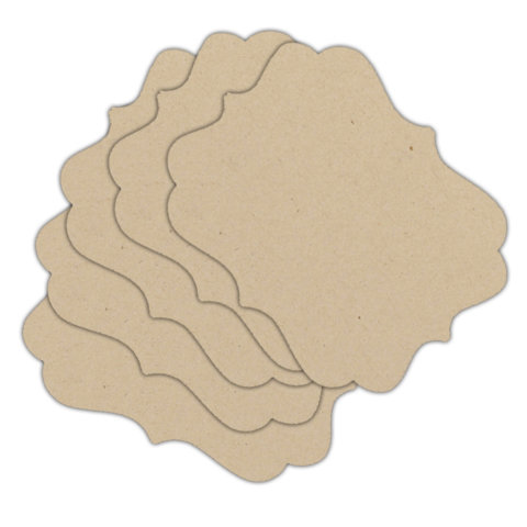 Melissa Frances - Chipboard Backdrops - Label