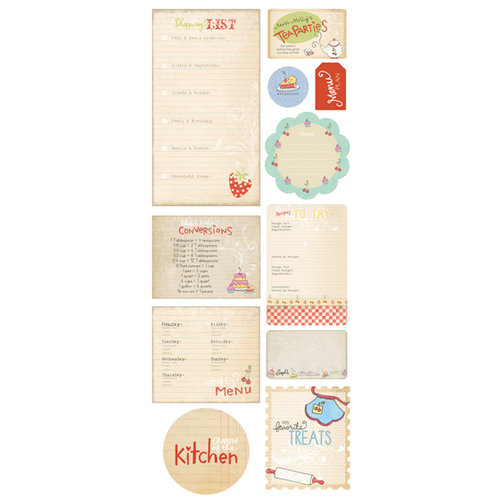 Melissa Frances - Kitschy Kitchen Collection - Chipboard Pieces - Homemade