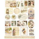 Melissa Frances - Cardstock Stickers - Ephemera - Here Kitty Kitty