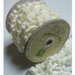 Melissa Frances - Pom Pom Trim - White - 20 Yards