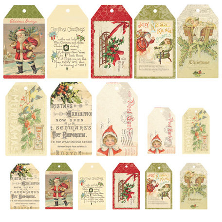 Melissa Frances - Deck the Halls Collection - Christmas - Tags