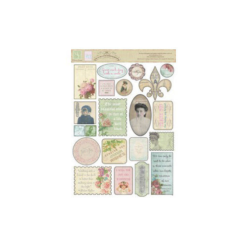 Melissa Frances - C'est la Vie Collection - Cardstock Stickers - Vintage