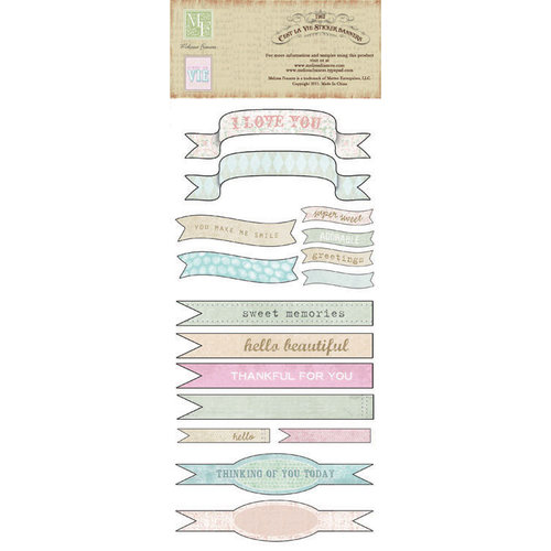 Melissa Frances - C'est la Vie Collection - Cardstock Stickers - Banners
